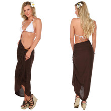 Solid Colored Sarong in Brown