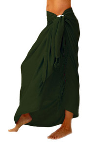 "Solid Sarong ""Forest Green"""