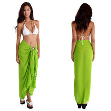 Solid Colored Sarong in Lime Green