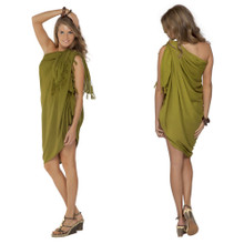"Solid Sarong ""Light Green Olive"""