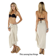 Solid Eggshell-colored Sarong