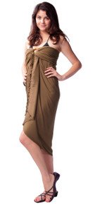 Solid Colored Sarong in Light Brown