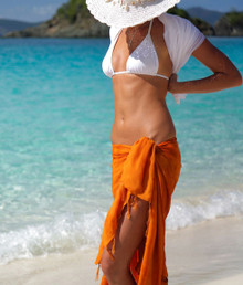 Solid Colored Sarong in Orange