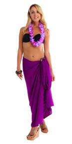 """Solid Sarong """"Purple 2"""