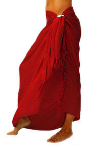 Solid Colored Sarong in Hot Red