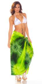 Green Emerald Tie Dye Sarong