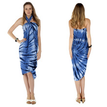 Light Blue Swirl Tie Dye Sarong