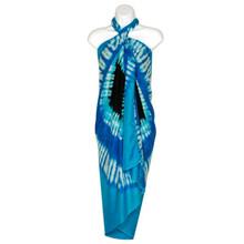 Double Blue Diamond Tie Dye Sarong