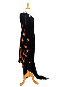 Bamboo High-End Pertama Sarong in Black