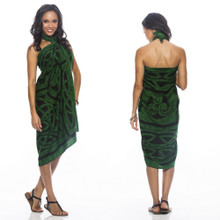 "Celtic Circles High-End Pertama Sarong, ""Emerald Green"""