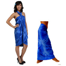 """Embroidered Tie Dye High-End Pertama Sarong """"Blue"""""""