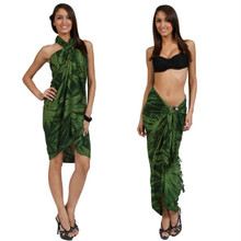"Embroidered Tie Dye High-End Pertama Sarong ""Dark Green"""