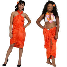 "Embroidered Tie Dye High-End Pertama Sarong ""Orange"""