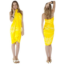 "Embroidered Tie Dye High-End Pertama Sarong ""Yellow"""