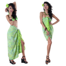 High-End Pertama Floral Sarong in Lime Green