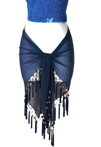 "Sheer Sarong ""Navy Blue"""