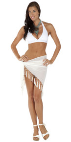 Sheer Sarong in White
