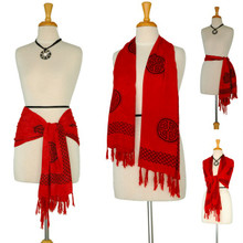 Red Celtic Knot Scarf