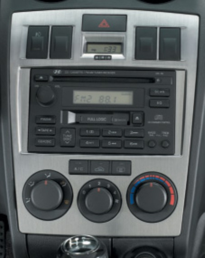 Hyundai Tiburon Metallic Dash Trim - Manual Climate Control (K036)