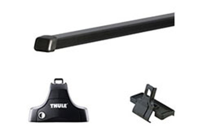 "2017 Hyundai Elantra Thule Roof Rack Kit - 58"" Square Bars"
