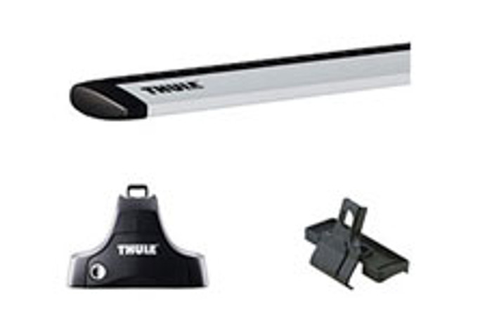 "Hyundai Sonata Thule Roof Rack Kit - 53"" AeroBlade Bars"