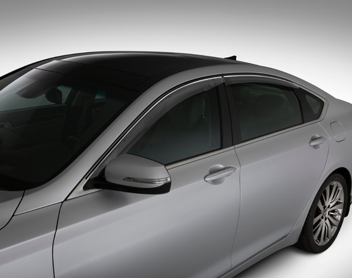 Hyundai Genesis OEM Rain Guards (F040)
