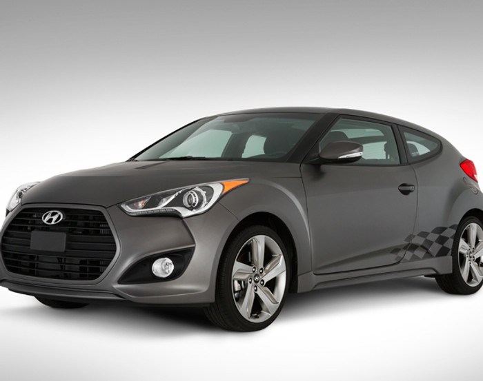 Hyundai Veloster Checkered Body Graphic (AA014)