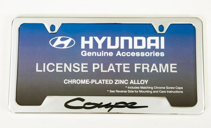 Hyundai Genesis Coupe Chrome License Plate Frame (G011)
