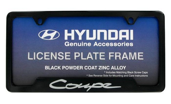 Hyundai Genesis Coupe Black License Plate Frame (G012)