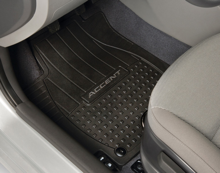 Hyundai Accent Rubber Floor Mats (B056)