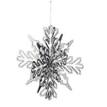 Large Silver Snowflake Ornament