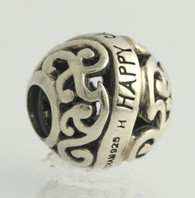 NEW Chamilia  2010-3051 Bead Charm - Sterling Silver Happy Anniversary Filigree