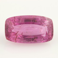 8.94ct Loose Tourmaline Gemstone - Pink Rectangular Moderate Inclusions