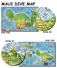 Waterproof Dive Site Map - Maui Hawaii