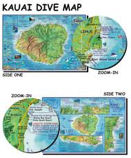 Waterproof Dive Site Map - Kauai Hawaii