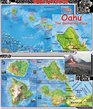 Waterproof Dive Site Map - Hawaiian Islands