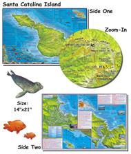 Waterproof Fish ID Card & Map - Catalina Island