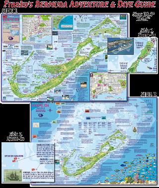 Bermuda Dive Map Scuba Gear Canada
