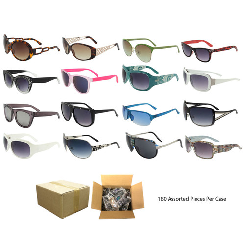 Assorted 180pcs Fashion Sunglasses