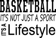 Basketball.  It's not just a sport.  It's a lifestyle