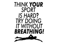 Think your sport is hard?  Try doing it without breathing.