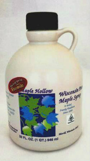 32oz (Quart) Pure Maple Syrup Amber Rich / Medium Amber - Kosher - Plastic Jug
