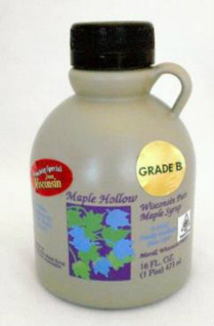 16oz (Pint) Pure Maple Syrup Dark Robust / Baking Grade Kosher