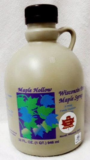 32oz (quart) Pure Maple Syrup Dark Robust / Baking Grade Kosher