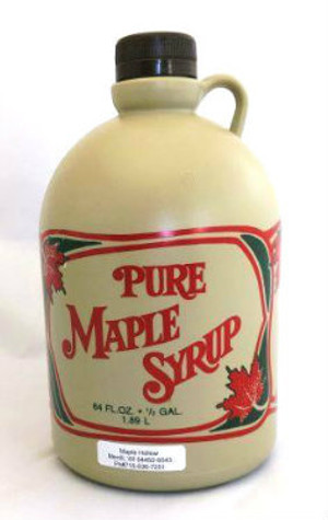 64oz (1/2 gallon) Pure Maple Syrup Dark Robust / Baking Grade Kosher