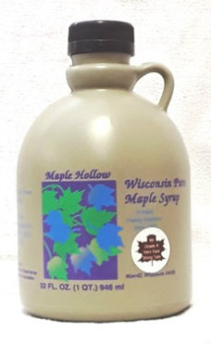 32oz (quart) Pure Maple Syrup Very Dark Strong Kosher
