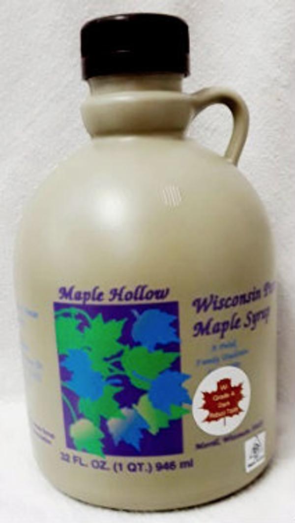 32oz (quart) Pure Maple Syrup Dark Robust / Baking Grade Kosher