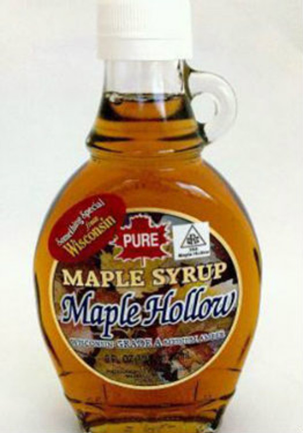 12oz Pure Maple Syrup Amber Rich / Medium Amber - Glass w/handle - Kosher