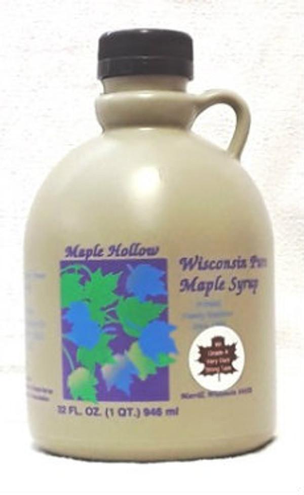 32oz (quart) Pure Maple Syrup Very Dark Strong Kosher
