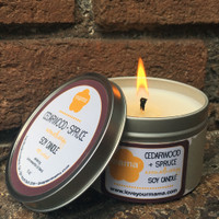 Limited Edition Cedarwood + Spruce candle tin